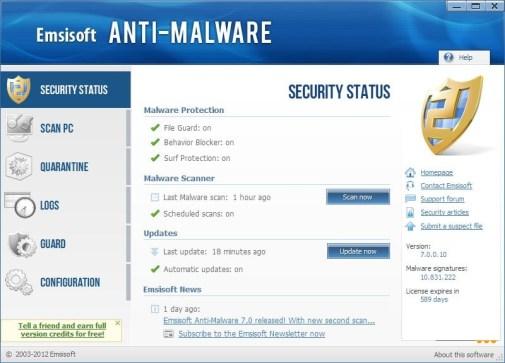Emsisoft Anti-Malware 2018.12.0.9137 Crack