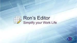 Ron`s Editor 2019.05.01.1504 Crack