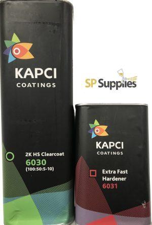 Kapci 6030 2K HS Anti-Scratch Clearcoat VOC Compliant 7.5L Extra Fast