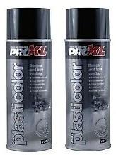 PROXL-PLASTICOLOUR AEROSOL-BLACK (400ML) X2