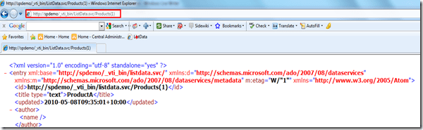 Building an interactive dashboard with SharePoint 2010 RESTful Services (5/5)