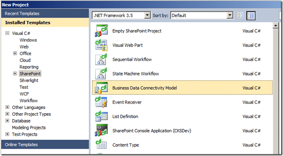 Consuming Windows Azure DataMarket with SharePoint 2010 via Business Connectivity Services (4/6)