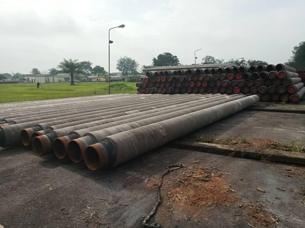 Stacking Of CWC Pipes At Clients Yard (Edjeba)