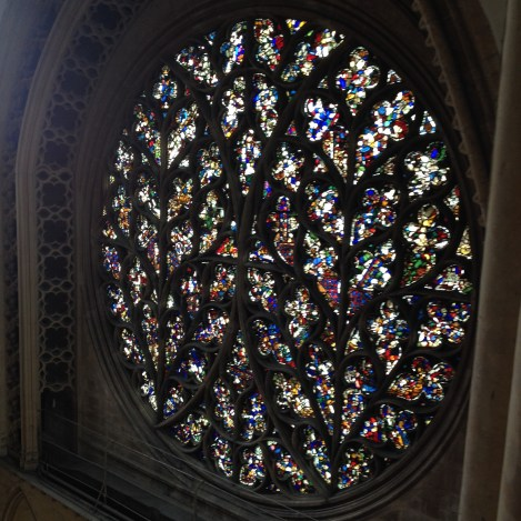 "The ""Bishop's Eye,"" the rose window in the south transept of Lincoln Cathedral, which figuratively watches over the city, as the bishop does spiritually."