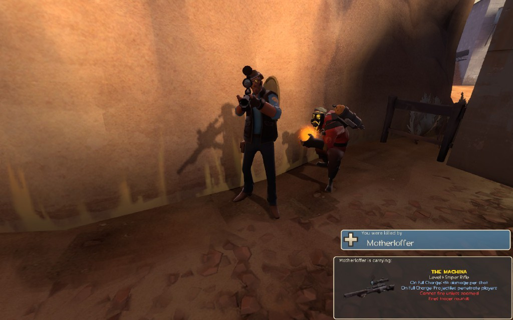 "Valve needs to go back in time and give this Pyro a free ""Killcam Taunts"" Strange part. Picture by lord_beklanaze."
