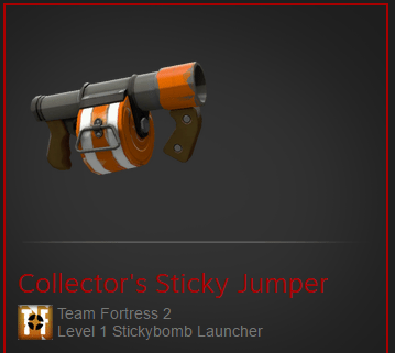 Sticky Jumper would have been my second choice after crossbow, except for the memory of me and my friends all collecting 200 of them to make this.