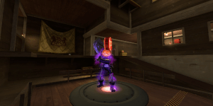 The Horseless Headless Horsemann in CP_Manor_Event on Capture Point A.
