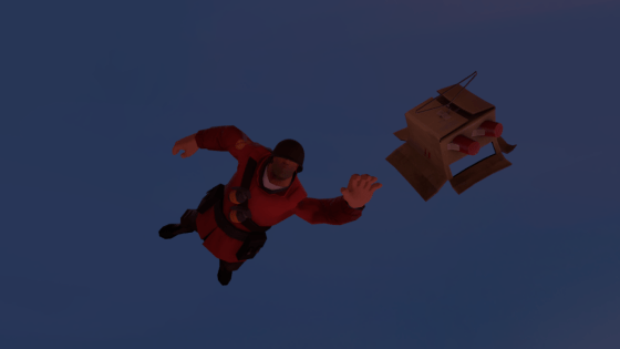 Soldier floating