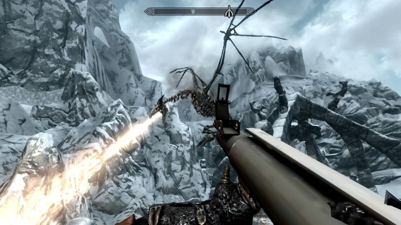 I am not entirely sure how this dragon appeared. I killed it then it got up and did this. I just killed it again though.