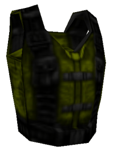 Various armor colors depict how much of the armor points are you going to get - green is the least, yellow is medium, red is the most.