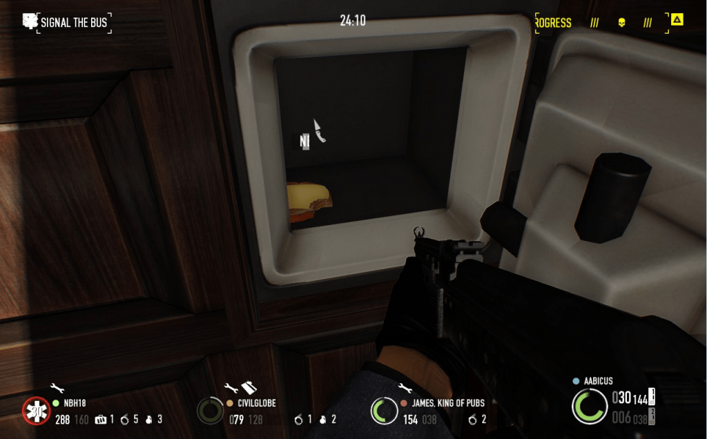 Picking safes and deposit boxes is not an experience adding to my enjoyment of a heist.