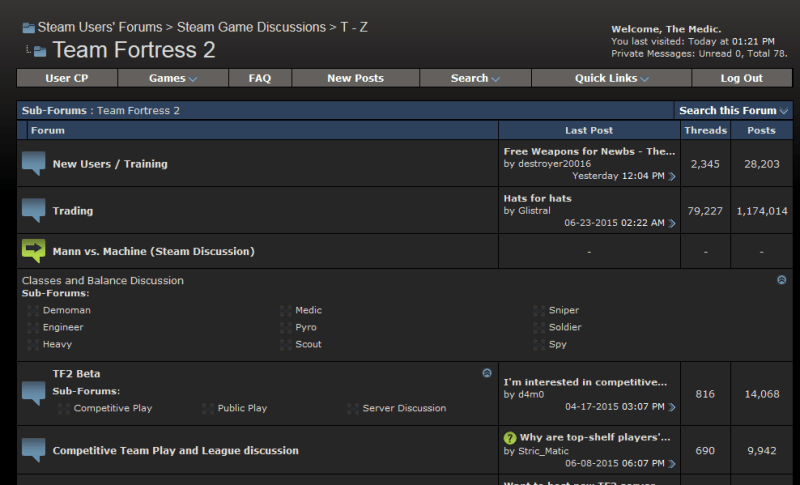 The TF2 part of the Steam User Forums. Even if the rest of the forum prefers SUF, we'll always be SPUF.