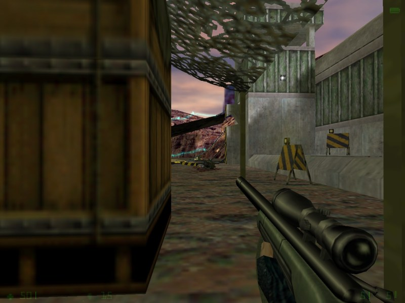 Also, while we're at it, Opposing Force is the only game to give the player a sniper rifle.