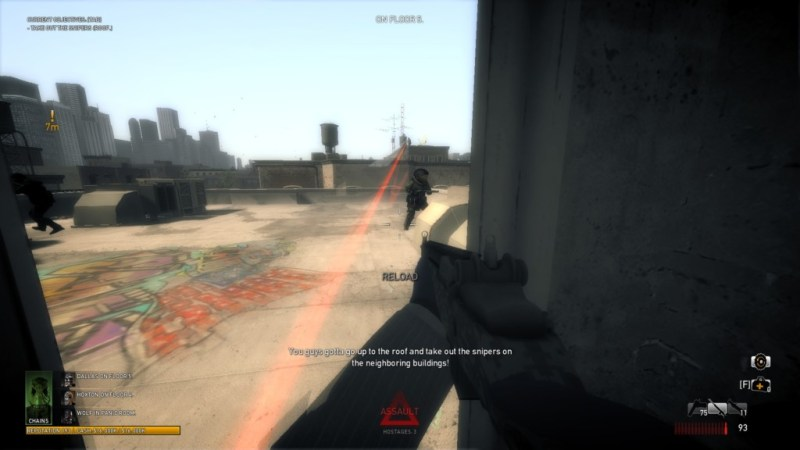 And the NPC snipers who aren't using lasers are probably using tracer rounds.
