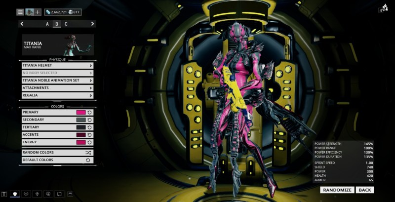 In the mean time, here's a colour scheme to try and hide the ugly thing on my warframes' necks.