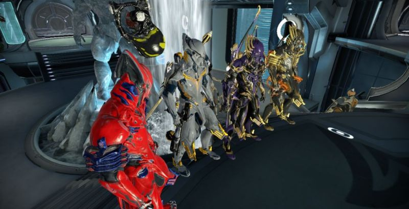 A row of Volt Primes. Volt Prime is the second easiest Prime to get after Trinity Prime, hence how common they are.