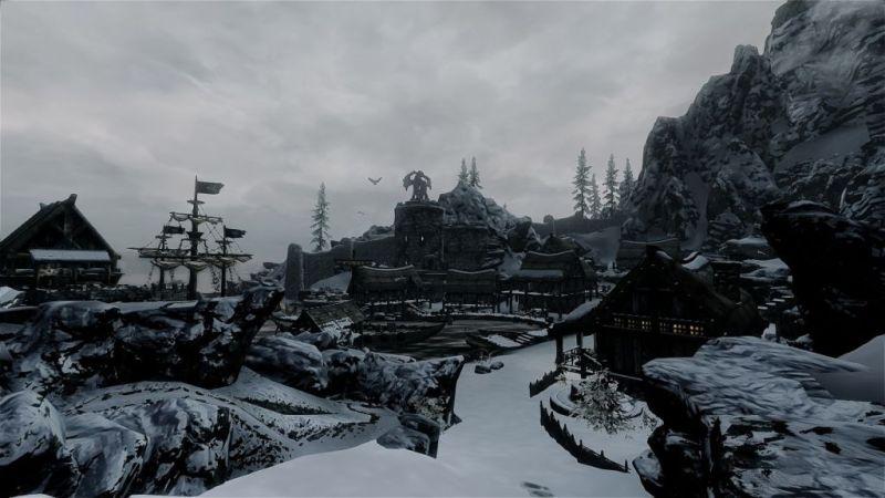 The port of Dawnstar