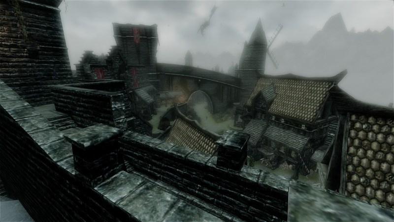 Solitude, the capital city of Skyrim