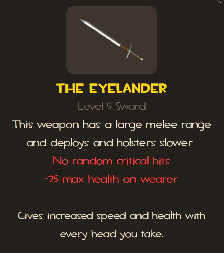 Eyelander stats