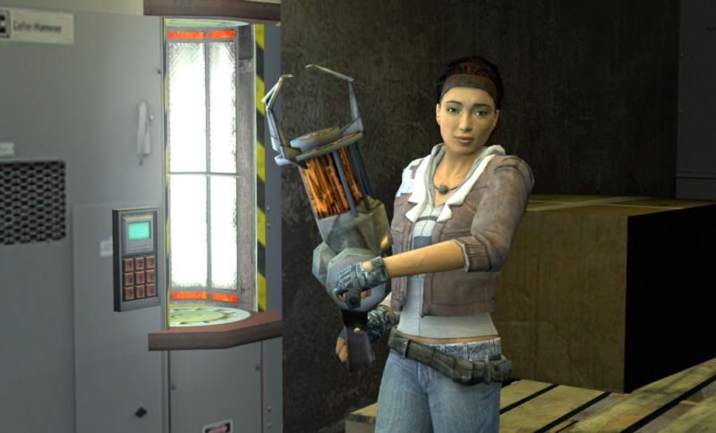 Alyx with a Gravity Gun