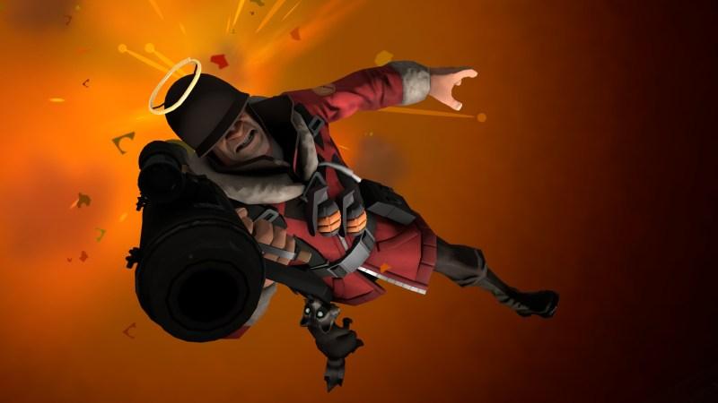 Soldier performing an explosive getaway!