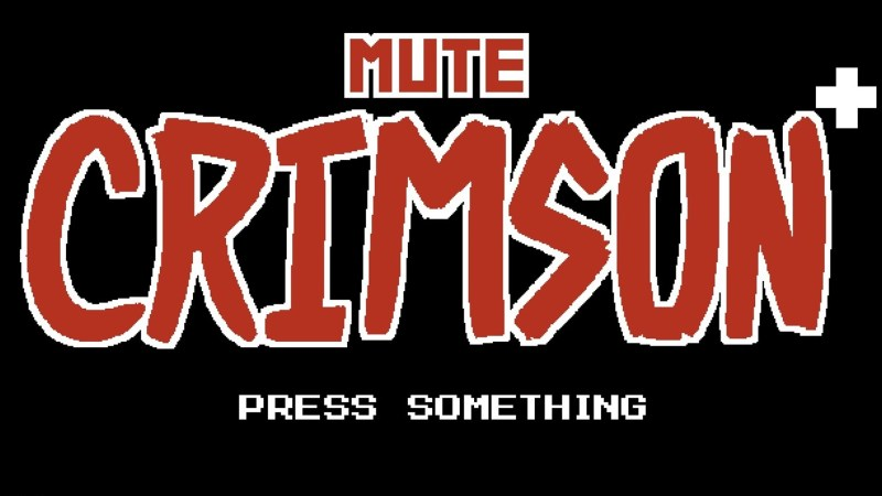Mute Crimson title screen.