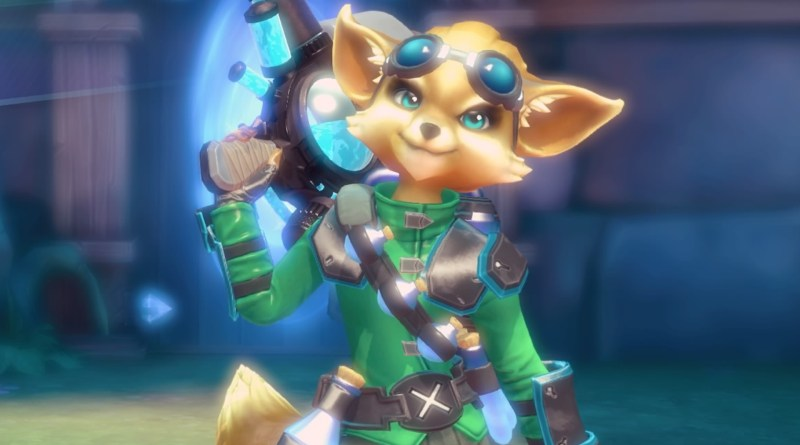 Paladins champion Pip, posing for the camera.
