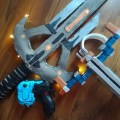 A bunch of Warframe weapons.