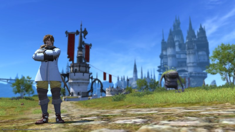 Outside Limsa Lominsa currently playing as a White Mage.