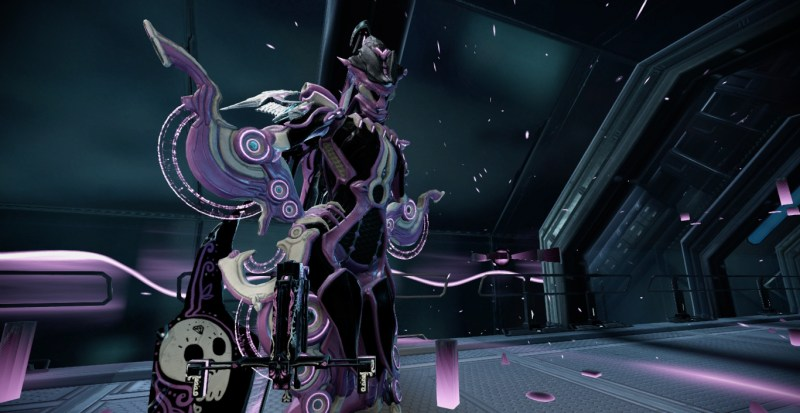 Octavia in black and purple