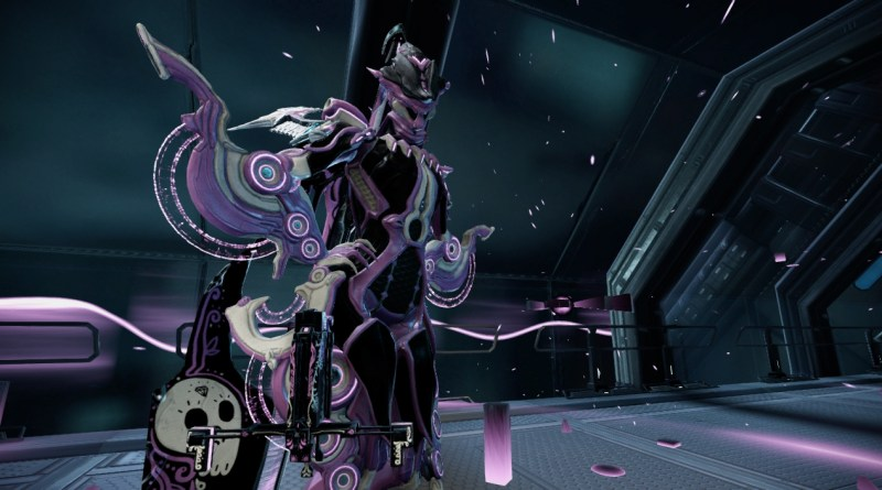 Octavia in black and purple
