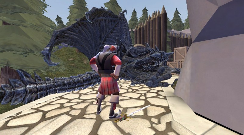 Demoman and a dead dragon