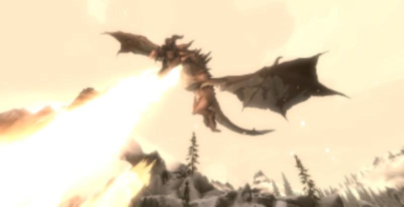 A Dragon in Skyrim