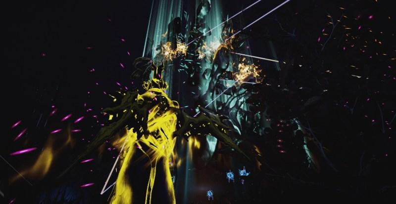 A battle with a massive Eidolon.