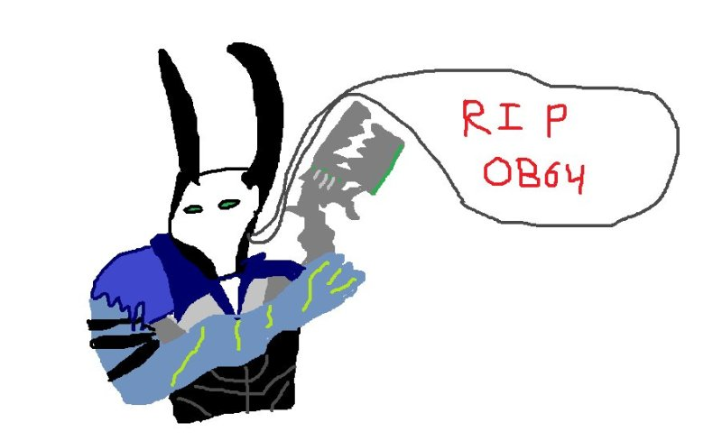 A beautiful drawing of Androxus confirming OB64's death.