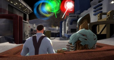 Medic and Volt, simply chilling out and watching fireworks