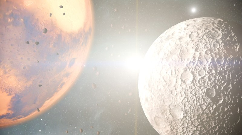 Mars controlled by the Grineer on the left, Phobos controlled by the Corpus on the right