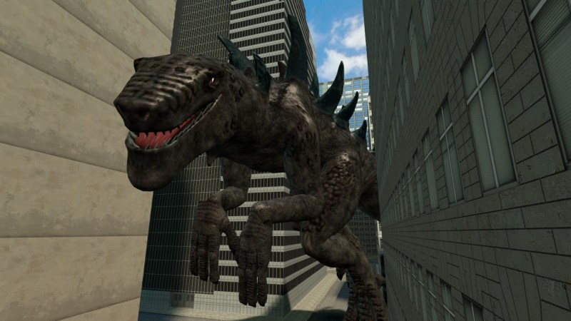 Gozilla 1998 is a massive iguana. No, radiation doesn't turn iguanas into massive, dinosaur-like beings. It kinda just kills them like most other things.