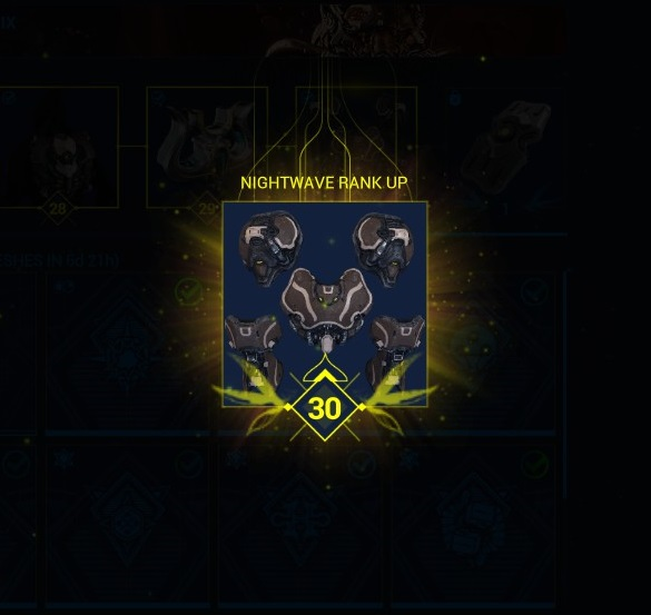 The reward for reaching level 30 in Nightwave - The Wolf's own armour