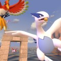 Spirits of the Lake being eaten by various bird-like Pokemon.
