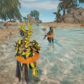 Oberon is nearly as confused about the rubber rings and water as we all are.