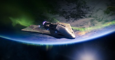 Floating in space above the Tower, waiting to go on my next mission.