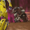 Volt Prime about to stab a Kuva Lich with his Parazon