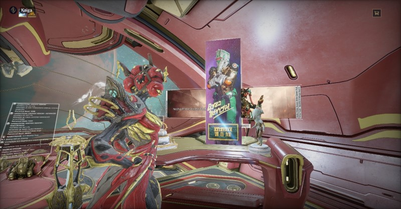 Khora stands in her Orbiter, with her freshly placed autographed poster of John Prodman.