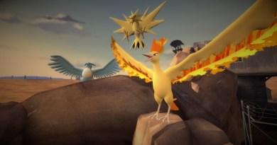 The Legendary Birds Articuno, Zapdos and Moltres