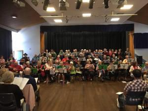 Southern Peninsula Ukulele Group in Concert at Rosebud 2017