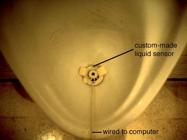 The Singing Urinal sensor