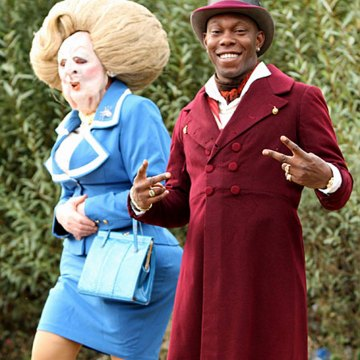 Dizzee Rascal and Lady Thather at video shoot for Dirtee Cash