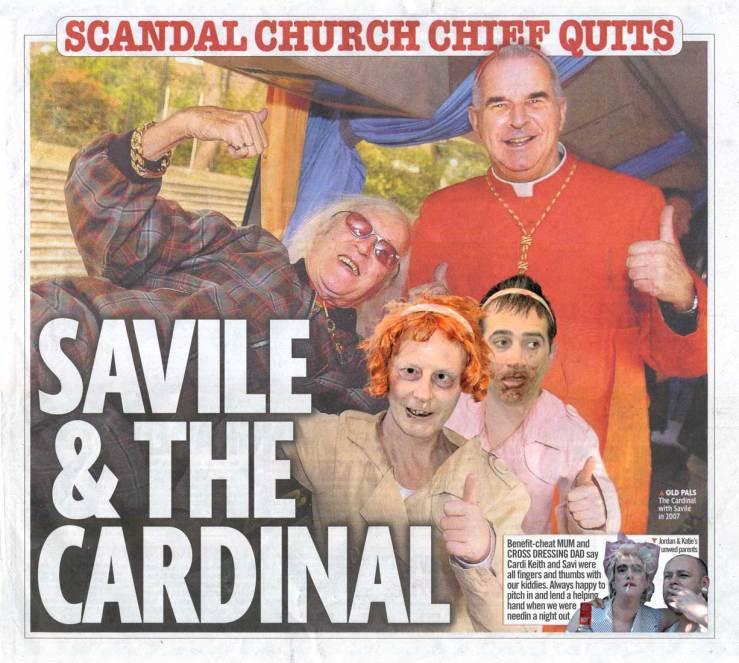 Jimmy Savile and Cardi Keith