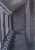 charcoal perspective drawing